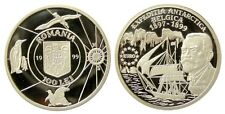 New listing y527 Romania 100 Lei 1999 Belgica Antarctica Silver coin Unc Proof