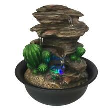 SereneLife SLTWF63LED 3-Tier Electric Indoor Outdoor Water Fountain Decor w/LEDs