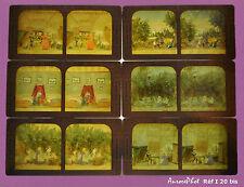 6 VUES STÉRÉOS POLYRAMIQUES, SÉRIE LE PETIT POUCET ET SA BOITE  VERS 1885 -I 20