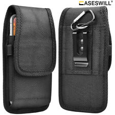 For iPhone 8 7 6S 6 Plus 5S 5 SE 2020 Canvas Nylon Holster Case with Belt Clip