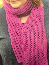 Cg12 - Knitting Pattern - Elegant DK Scarf - Knit Any Colour