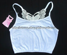 MUST BUY, SO CHEAP! AUTH GIANG WEI JUNIOR WHITE HALF-CAMISOLE TOP SMALL BNWT