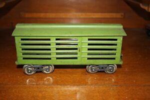 Antique Standard Gauge LIONEL #113 CATTLE BOX CAR Sold with no reserve