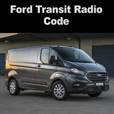 Ford Transit Radio Code Reset Stereo Codes 6000CD, 6006CD, 4500RDS UK Service