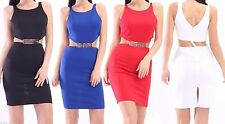 Unbranded Patternless Mini Sleeveless Dresses for Women