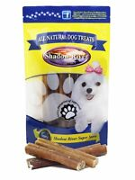 25 Pack 6 Inch Jumbo All Natural Premium Beef Bully Sticks by Shadow River