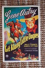 Git along little Dogies Lobby Card Movie Poster Western Get Gene Autry