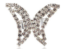 Abstract Insect Butterfly Flutterfly Wing Crystal Rhinestone Fashion Ring