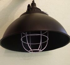 CEILING LAMPSHADE LAMP FACTORY INDUSTRIAL LOFT BLACK CAGE CHAINS