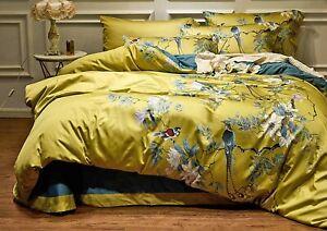 Luxury Satin Egyptian Cotton Bedding Set Bedlinens King Size Duvet Cover,TC≥600