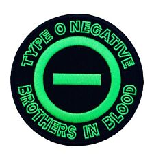 Type O Negative Patch (3 Inch) NEW Iron on Badge Metal Brothers in Blood Logo
