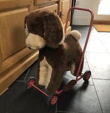 Vintage Toy Pushalong Dog. Vintage Dog Baby Walker. Ride On Dog.
