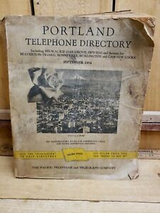 1954 Portland OR Telephone Directory Phone Book Yellow Pages GENEALOGY Vintage
