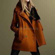 Winter warm zweireiher Mantel Oberbekleidung Damen Pullover Langjacke Khaki XL
