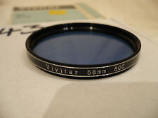 Vivitar 58mm Colour Correction 80C Filter CLEANED AND CHECKED