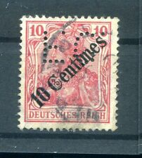 Turkey Firmenlochung Perfin FC Impeccable Postmarked (H5072