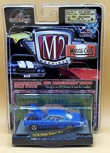 M2 MACHINES  MUSCLE CARS  - 1970 DODGE SUPER BEE  - RELEASE 1 -1:64  BLUE