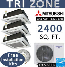 48000 BTU Ductless Mini Split Air Conditioner Heat Pump 12+18x2 Ceiling Cassette