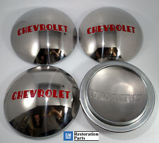 CHEVROLET 1/2T TRUCK HUBCAP SET 4 STAINLESS 1947 1948 1949 1950 1951 1952 1953