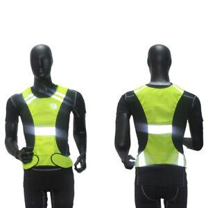 Hi Viz Reflective Safety Vest for Running Jogging Cycling Walking, Yellow