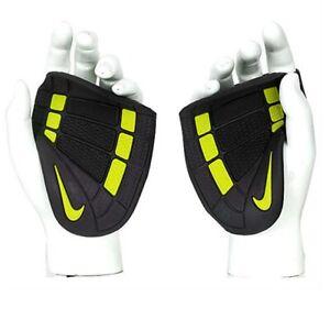 Nike FE0192-029 Fitness Gloves Alpha Grip Training Lifting 0192-029 Black/Yellow