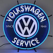 Volkswagen Service Neon Sign -  Since 1949 - Beetle - Bus - VW - Dealership