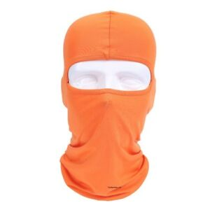 Ski Sun Shield Motorcycle Cycling Balaclava Lycra Full Face Mask Neck Ultra Thin