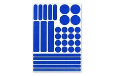 3M™ Stickerset 33teilig Aufkleber Sticker RA2 reflektierend selbstklebend blau