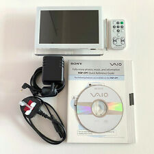 "Sony VAIO VGF-CP1 White 7"" Wi-Fi Digital Photo Frame AC Adapter Remote Control"