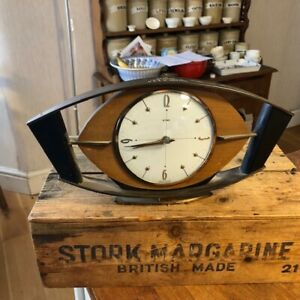 Vintage Art Deco Style Metamec Mantle Clock 1950's 1960's – Unusual Movement