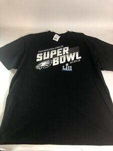 Mens NWT Philadelphia Eagles Size 2XL 2018 Superbowl Tshirt Black