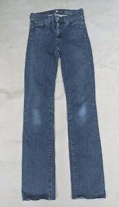 Seven for all mankind 26 denim jeans high waist straight leg blue READ DESCRIPTI