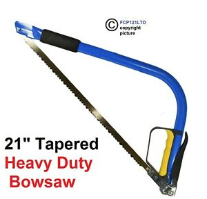 Bow Saw Wood Hand 21 Inch 535mm Tubular Tapered Bowsaw Tree Branch Cutter GD104