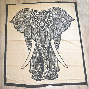 Tagesdecke Elefant Wandbehang Bettüberwurf Dekotuch Elephant Indien Tuch Decke *