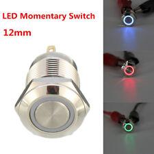 LEDLight 4Pin PushButton Switch Waterproof Momentary 12mm3V Brass Nickel Plated