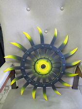 1958 BLACK & Yellow SUN  J Deere  Rotary Hoe  STEELERS Wheel