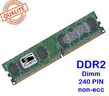 Mémoire 512MO DDR2 PC2-5300U PROMOS 240PIN 667MHZ 1Rx8 Dimm memory POUR PC