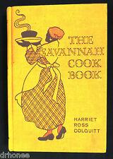 1933 BLACK MAMMY COOKBOOK BLACK AMERICANA  HARRIET ROSS COLQUITT SAVANNAH HC