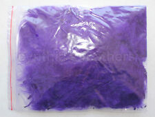 """8g (1/4Oz+) Regal Purple 1~3"""" Turkey Marabou Feathers for crafting, 50-70 counts"""