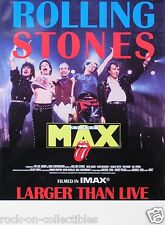 Rolling Stones 1991 At The Max Larger Than Live Original Promo Poster