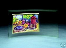 Engraved Glass Crescent  Picture Frame - 5½ x 12