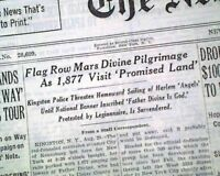 FATHER DIVINE African Americans Pilgrimage Peace Mission Movement 1936 Newspaper