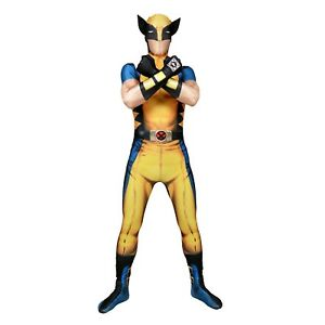 Halloween Party X men Wolverine Morphsuit Ganzkörperanzug mit digitalen Features