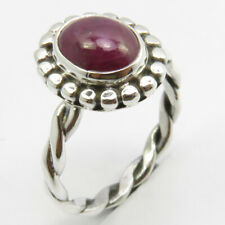 Oval Ruby Ring Size 6 Sterling Silver Women Jewelry