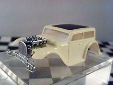 1932 Chopped Hot Rat Rod  White Black Roof  Sedan  HO Scale Slot Car Body