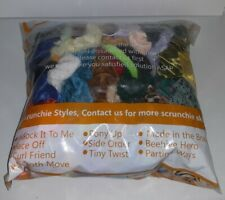 Big Bag Wholesale Lot of 50+ Various Size & Style Scrunchies Hair Accessories