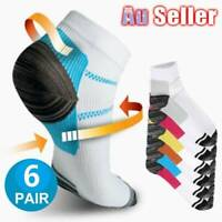 12pc Compression Socks Plantar Fasciitis Arch Ankle Running Support Women Men