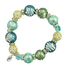 Clementine Design Kate & Macy O Christmas Tree Glass Beaded Jewelry Bracelet
