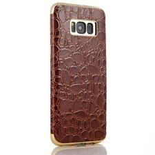 Samsung Galaxy S8 G950 SULADA TPU Case Soft Croco Muster Lack Magnet Hülle Braun