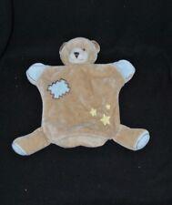 Peluche doudou marionnette ours BEBE9 bébé 9 brun marron bleu étoile jaune TTBE